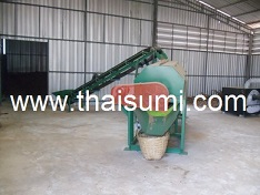 sieving rotary drum machine